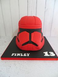 Sith Trooper Helmet Birthday Cake