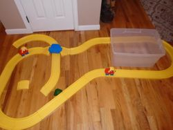 Little Tikes Roadway with Original Cars and Toddle Tots People - $25