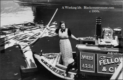 A working Boatman. 1950s,