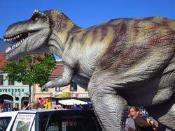Dinosaur in downtown Kalmar