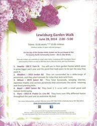 2014 Lewisburg Garden Walk Flyer