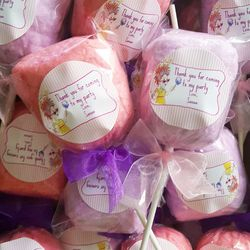 Fancy Nancy cotton candy party favors