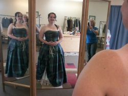 Irish bridal gown