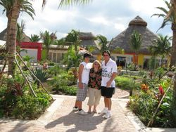 Tommy, Carol and Steve in Cozumel