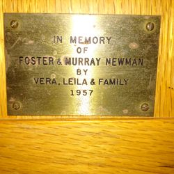 Memory of Murray Newman 1957