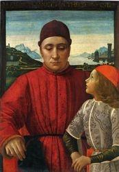 Ghirlandaio, Francesco Sassetti and His Son,