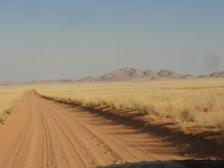 the main road to Sesfontein