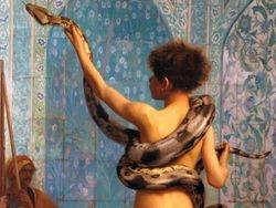 Gerome, The Snake Charmer, detail, Clark Institute