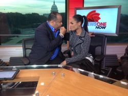 Demetria McKinney On 'News One Now' With Roland Martin on November 15, 2013