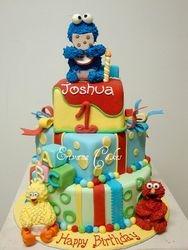Sesame Street cake 2 (B020)