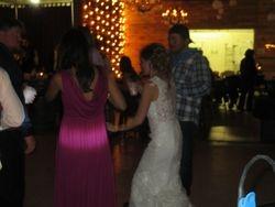 Bride having a BLAST on her wedding night