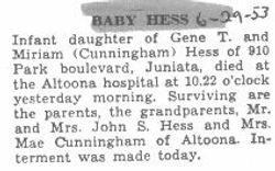 Hess, Baby 1953