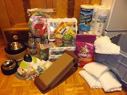 All the goodies the ladies brought to donate to Craig Street Cats!!