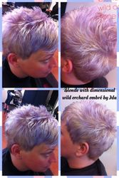 Lilac Ombre and Haircut