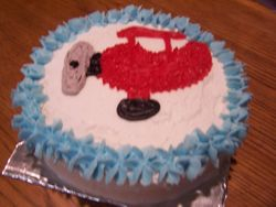1st Bday Airplane - Individual Cake (Smash Cake)