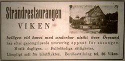 Strandrestaurangen Viken 1946