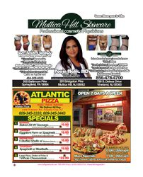 Mullica Hill Skincare, Atlantic Pizza, Business Promotions, Newspaper, New Jersey