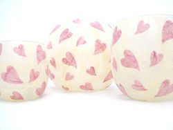 Cream and Rose Pink Melting Hearts
