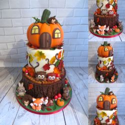 Autumn Pumpkin themed Cake