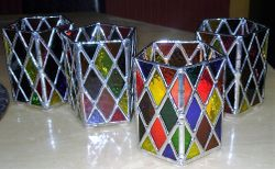 Diamond Candle Holders