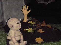 zombie on grave