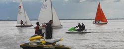 Water sports on the Ribble Estuary