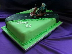 60 th birthday cake (mobility scooter)