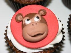Monkey Cupcake Topper