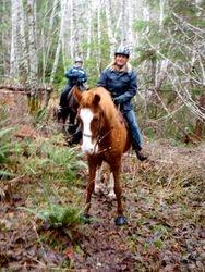 Wendy and Halliday On the Wishbone trail