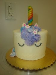 Mini unicorn with candy horn $50
