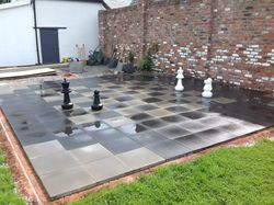 Chess Board Paving Area