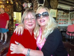 Jeanie Clarke and friend