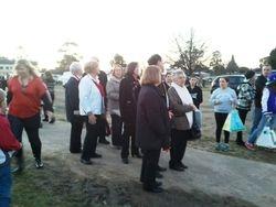 Choir waiting to walk in the lantern parade