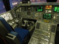part of the shuttle cockpit