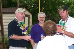 Krewe members in deep discussion