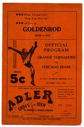 1935 Orange Tornadoes vs. Chicago Bears