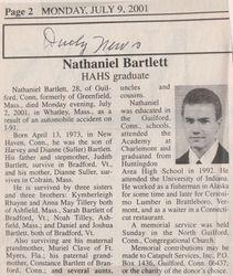 Bartlett, Nathaniel 2001