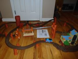 Thomas the Train: Zip, Zoom, and Logging Adventure Train Set - $40