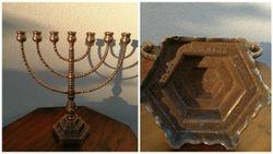 Antikvarine bronzine menora. Kaina 78