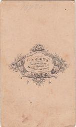 R. Anson, photographer of New York, New York- back