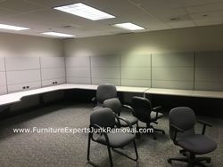 Junk office cubicle removal in reston VA