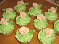 Bridal Shower Cupcakes with Roses