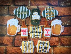 Birthday Cookies Cheers and Beers Theme