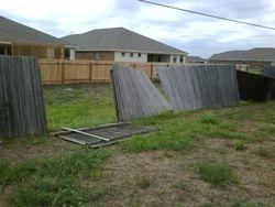 Windblown fence