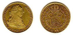 1788 Spain, Charles III, Gold 2 Escudos