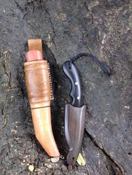 Scandinavian Puukko Knife and Mini Scandi Knife