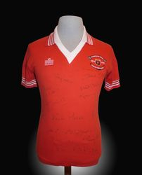 Admiral Match Worn Manchester United Shirt