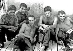 Nick Pennycott,Jock Dow, Blue and Sarawak Rangers Borneo 1962-3