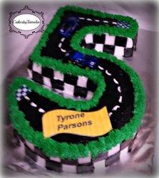 Number 5  Cake race track cake