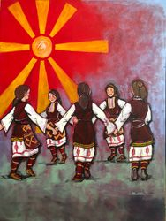 Macedonian girls dancing